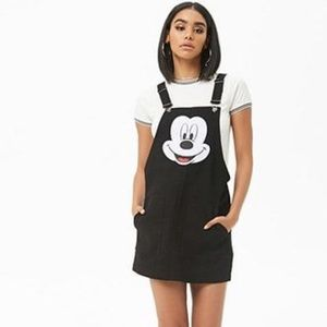Disney Forever 21 Mickey Mouse Overall Dress